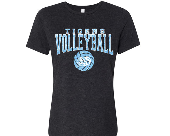 Eisenhower Tigers Volleyball Glitter Design Cotton Women's Tee Shirt