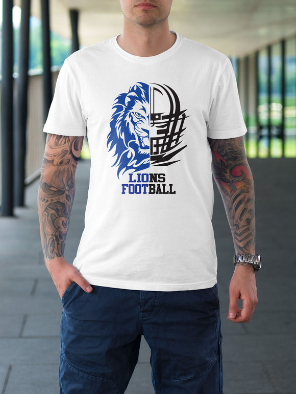 Goddard Lions Football White Graphic Tee Shirt - On Sale for A Limited Time!