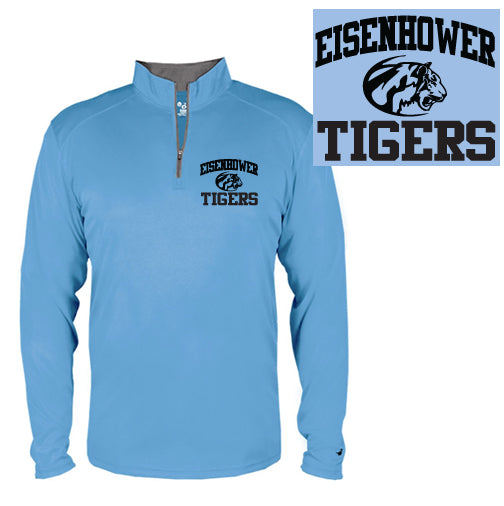 Eisenhower Tigers Unisex Quarter-Zip Long Sleeve Shirt by Badger