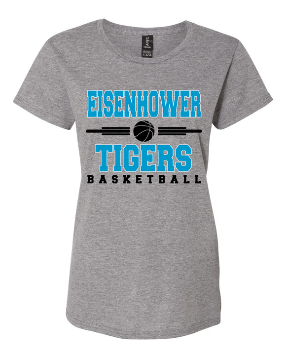 Eisenhower Tigers Basketball Womens Tee Shirt Soft and Comfy