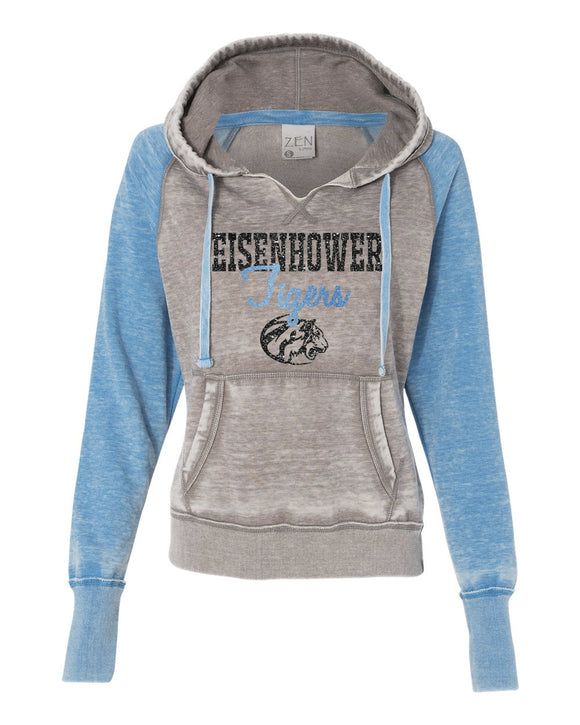 Eisenhower Tigers Zen Raglan hooded Sweatshirt