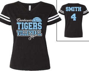 Eisenhower Tigers Volleyball Mom V-neck Jersey tee