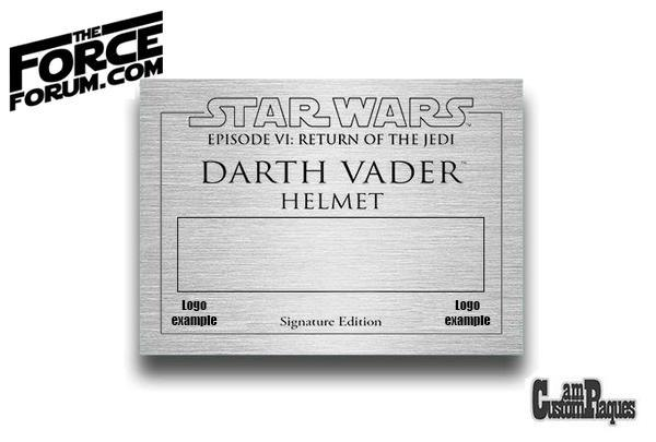 Custom display plaque - The Force Forum