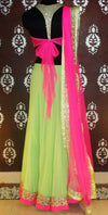 Pink and mint green indo-western ghagra - Vitamin Sonalika