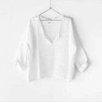 Luxe Linen Top - White
