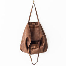 Cognac Unlined Leather Tote