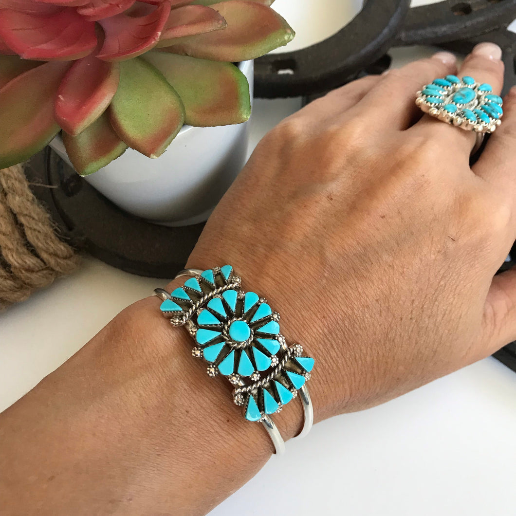 Zuni Turquoise & Sterling Silver Cuff