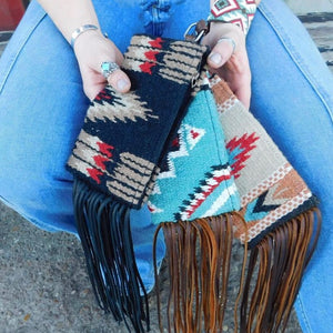 Espuela Design Co Wristlet with Fringe