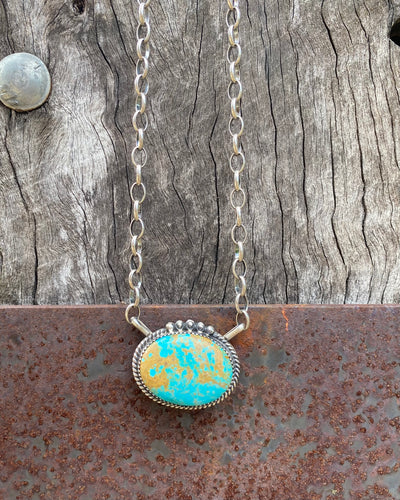 Moonshine Blue/Green Turquoise Necklace