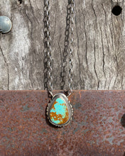 Kingman Turquoise Pendant Necklace