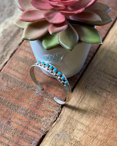 Zuni Turquoise & Sterling Silver Cuff - Small Wrist (Child)