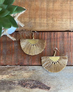 Large Gold Fringe Earrings