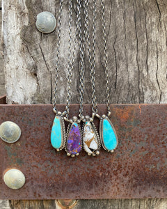 Turquoise Teardrop Pendant Necklace
