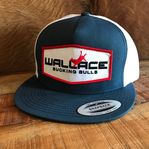 Wallace Bucking Bulls Logo Snapback Navy/White