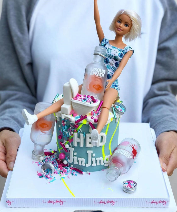 DearHarley - Drunken Barbie Cream Cake