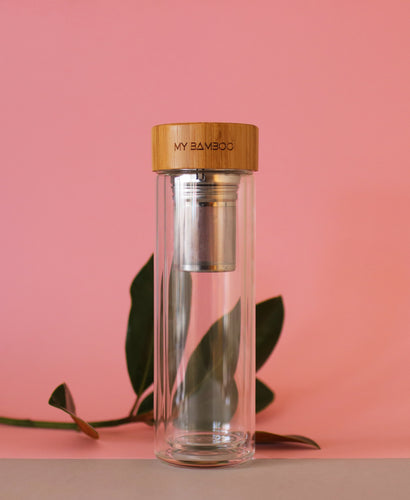 My Bamboo - Double Walled Glass Infuser