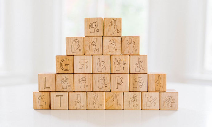 ASL Alphabet Blocks - POP Gallery