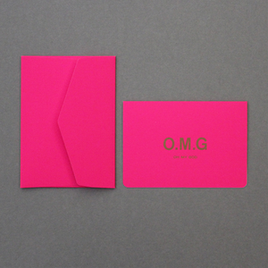 Le Typographe - A6 Folded Card + Pointed Closing Flap Envelope