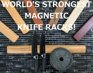 "Rectangle - 2.5"" x 8"" 12"" 18"" or 24"" - World's Strongest Magnetic Knife Rack"