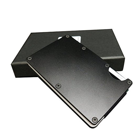 Black Aluminum Steel Card Holder & Clip