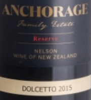 ANCHORAGE FAMILY ESTATE 2015 RESERVE DOLCETTO