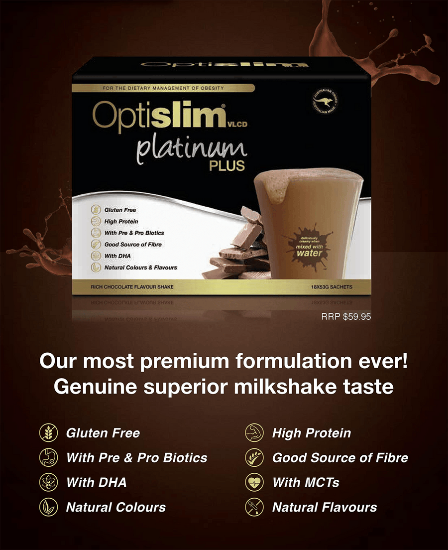 Optislim VLCD Platinum Plus Meal Replacement Shake Chocolate Weight Loss OptiSlim