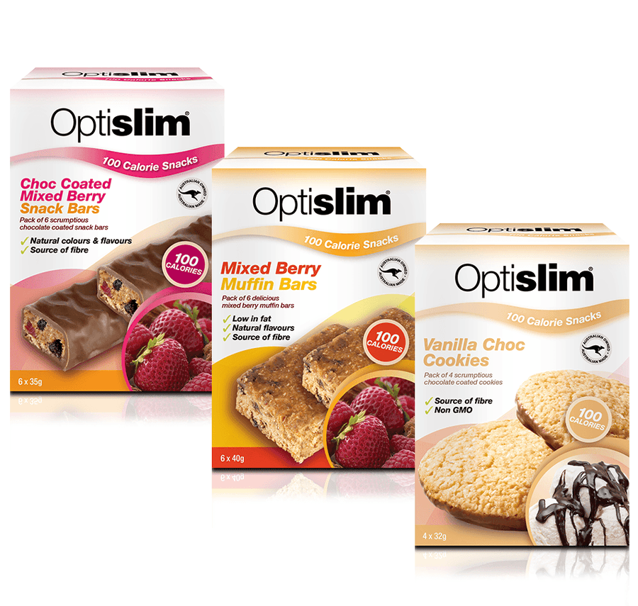Optislim 100 Calorie Snacks 3 Flavour Pack Optislim