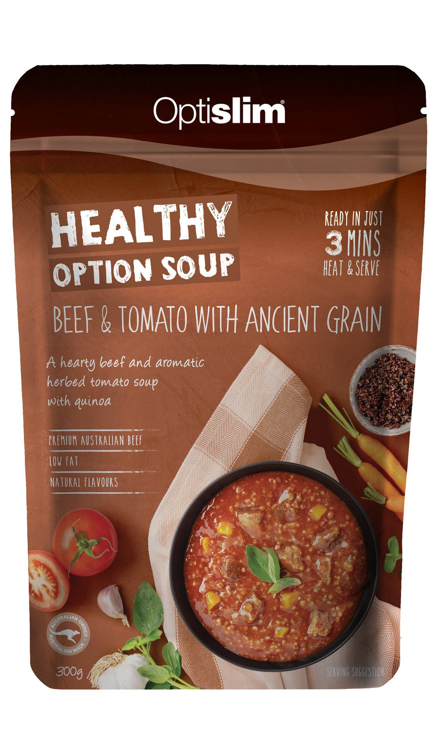 Healthy Option Soup Beef & Tomato with Ancient Grain Weight Loss OptiSlim