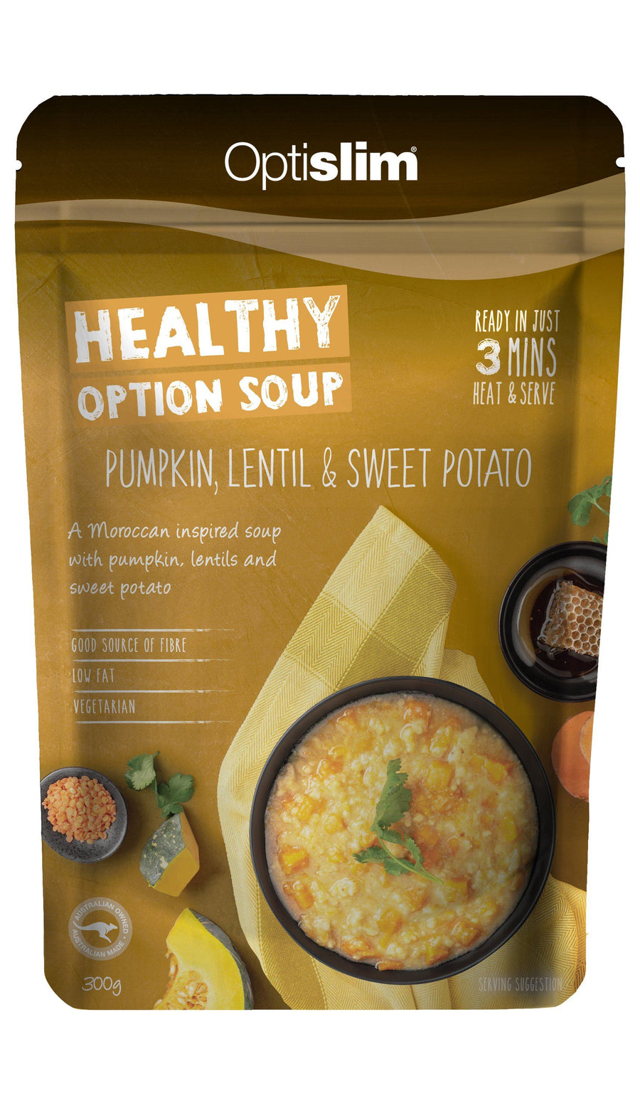 Healthy Option Soup Pumpkin, Lentil and Sweet Potato Weight Loss OptiSlim