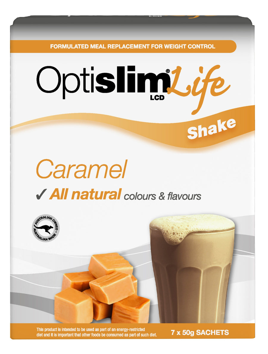 Optislim Life Shake LCD Caramel (7x50g) Weight Loss OptiSlim