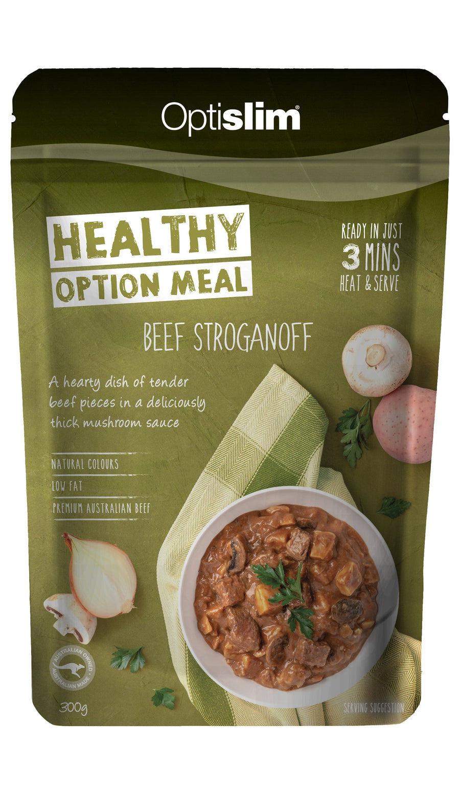 Healthy Option Meal Beef Stroganoff New Weight Loss OptiSlim
