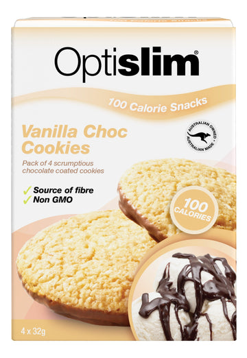 Optislim 100 Calorie Snacks Vanilla Choc Cookie (4x32g) Weight Loss OptiSlim
