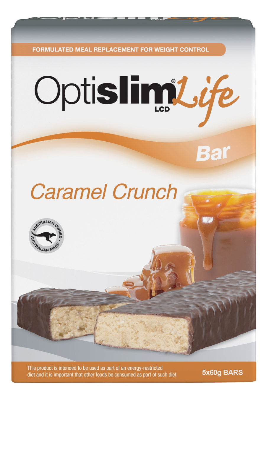 Optislim Life LCD Bar Caramel Crunch (5x60g) Weight Loss OptiSlim