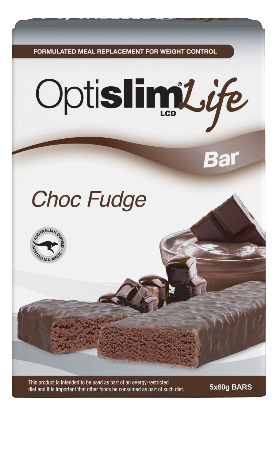 Optislim Life LCD Bar Choc Fudge(5x60g) Weight Loss OptiSlim