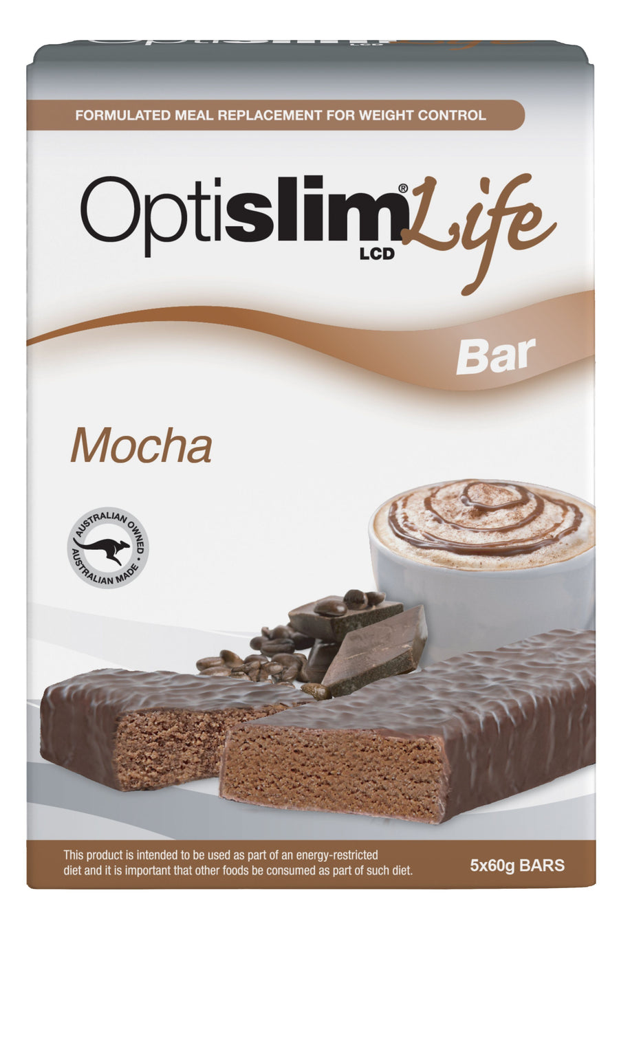 Optislim Life LCD Bar Mocha(5x60g) Weight Loss OptiSlim