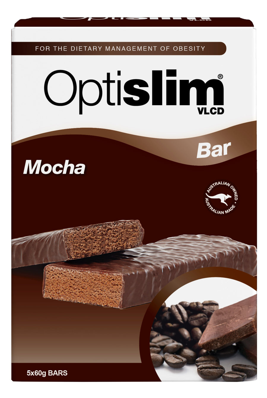 Optislim VLCD Bar Mocha (5x60g) Weight Loss OptiSlim