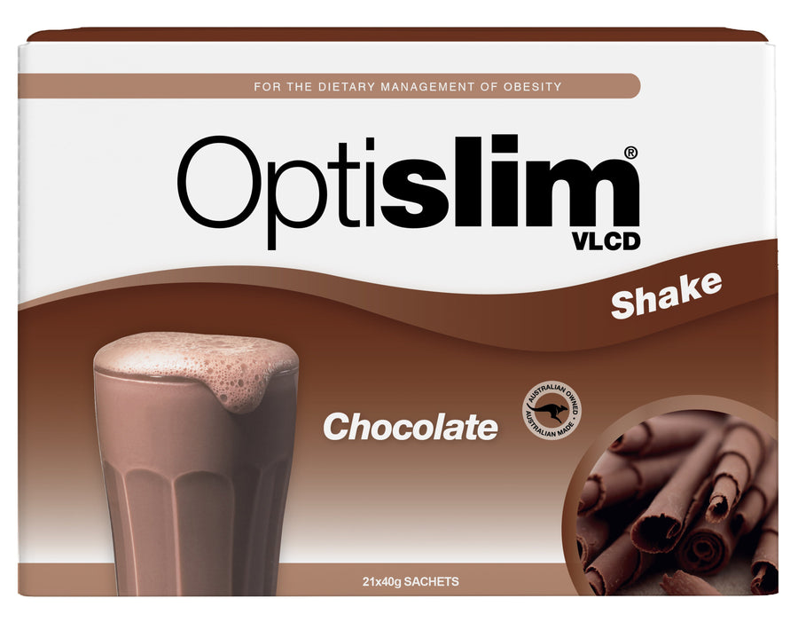 Optislim VLCD Meal Replacement Shake Chocolate (21x40g) Weight Loss OptiSlim