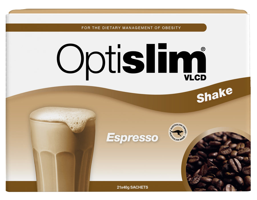 Optislim VLCD Meal Replacement Shake Espresso (21x40g) Weight Loss OptiSlim
