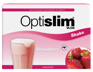 Optislim VLCD Meal Replacement Shake Strawberry (21x40g) Weight Loss OptiSlim