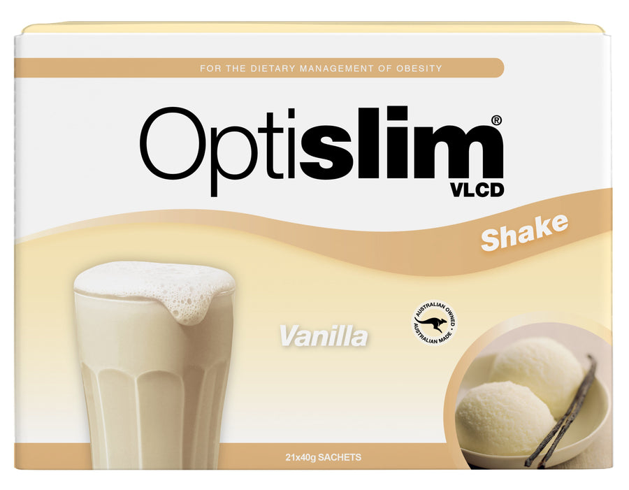 Optislim VLCD Meal Replacement Shake Vanilla (21x40g) Weight Loss OptiSlim