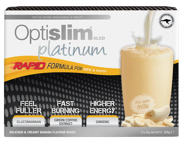 Optislim VLCD Platinum Meal Replacement Shake Banana (21x25g)