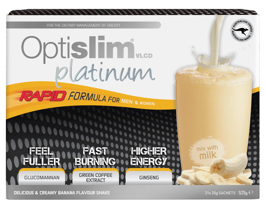 Optislim VLCD Platinum Meal Replacement Shake Banana (21x25g) Weight Loss OptiSlim