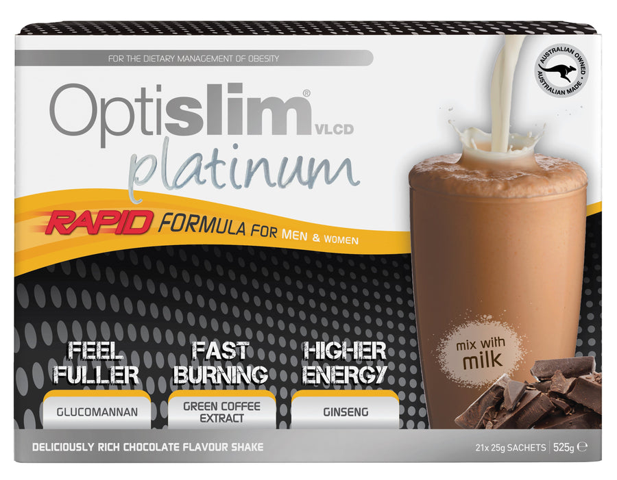 Optislim VLCD Platinum Meal Replacement Shake Chocolate (21x25g) Weight Loss Optislim