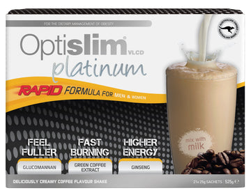 Optislim VLCD Platinum Meal Replacement Shake Coffee (21x25g)