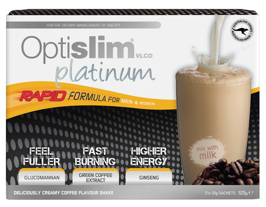 Optislim VLCD Platinum Meal Replacement Shake Coffee (21x25g) Weight Loss OptiSlim