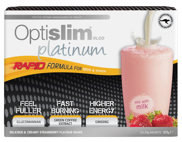 Optislim VLCD Platinum Meal Replacement Shake Strawberry (21x25g) Weight Loss OptiSlim