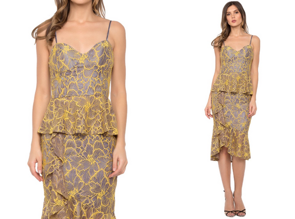 Yellow Lily Lace Dress