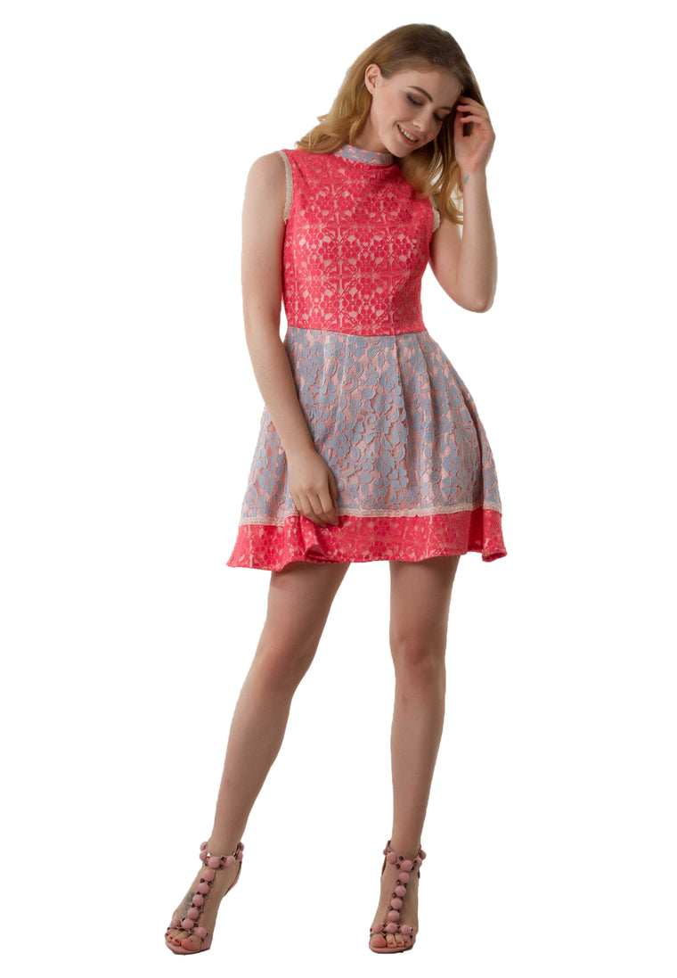 Mathilde Pink Lace Dress