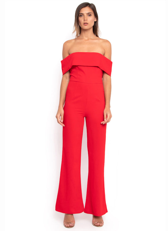 Midsy Hot Red Jumpsuit