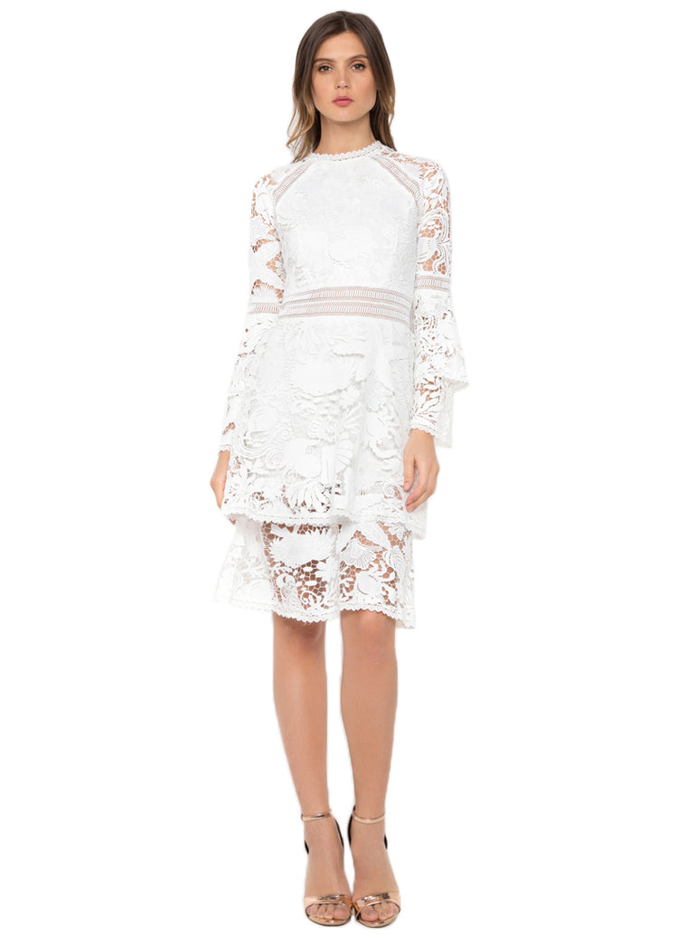 White Crochet Shakespeare Dress